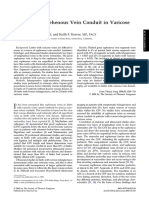 Selection of Saphenous Vein Conduit in Varicose Vein Disease