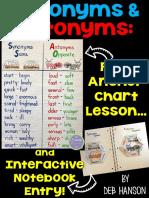 Synonym Antonym Interactive Notebook