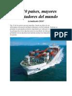 Factores de Comercio Mundial