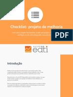 Checklist Projeto de Melhoria