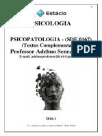 Apostila de Psicopatologia 2016.1