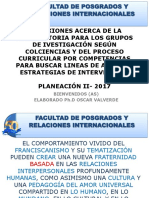 Reflexión sobre la investigación en Posgrados según convocatoria de Colciencias