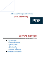 Lecture 2 IP-V4 Advanced Computer Networks