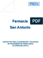 6.Instructivo Para PNO's Farmacia San a Antonio