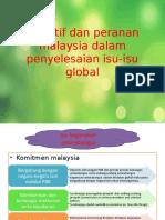4.7 & 4.8 Inisiatif Dan Peranan Malaysia ,Impak Isu Global