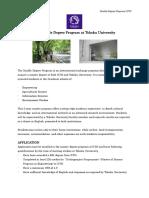 KTH-The Double Degree Program at Tohoku University