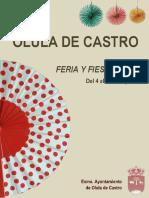 Programa Fiestas de Verano 2017 - Olula de Castro
