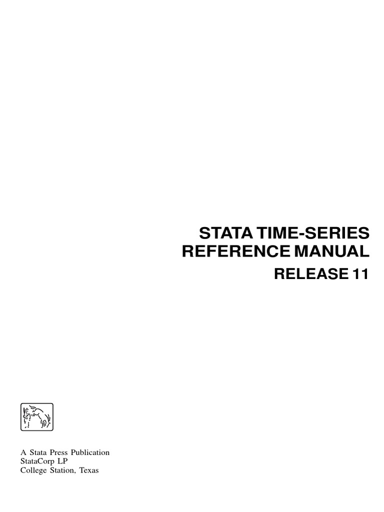 Time Series STATA Manual pdf | Time Series | Vector Autoregression