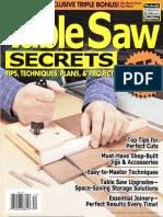 Table Saw Secrets, Tips, Techniques, Plans & Projects - Woodsmith Publication 2010.pdf