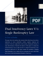 Dual Insolvency Laws V
