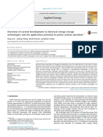 Overview of Current Development in Electrical Energy Storage Technologies and the Application Potential in Power System Operation