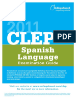 2011 CLEP Spanish Language Examination Guide
