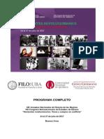 Programa. Congreso Genero