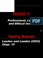 BIS4225.13 - Professional, Legal, and Ethical Issues.ppt