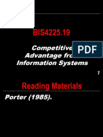 BIS4225.19 - Competitive Advantage from Information Systems.ppt