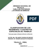 CLASIFICACION DE LOS REGÍMENES Y CONTRATOS ESPECIALES DE TRABAJO.pdf