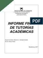Informe de Tutorias