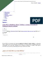 Ciclo PDCA (Planificar, Hacer, Verificar y Actuar)_ El Círculo de Deming de Mejora Continua _ PDCA Home