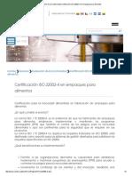 Evaluación de La Conformidad Certificación ISO 22002-4 en Empaques Para Alimentos