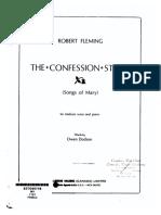 Fleming, Robert - The Confession Stone (Contralto, Piano)