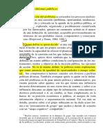 20 La Definición de Los Problemas Públicos (7h)