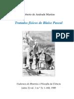 """[7] PASCAL, Blaise - Fragmentos de Um """"Tratado Sobre o Vácuo"""""""
