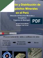 Formacion y Distribución de Los Depositos Minerles en El Peru
