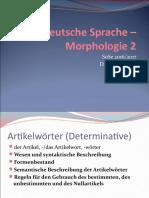 Deutsche Sprache –_Morphologie 2