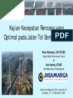 Krtj 10 20 Kajian Kecepatan Rencana Yang Optimal Pada Pembangunan Jalan Tol Semarang Solo