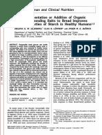 Sourdough low glycemic index - article