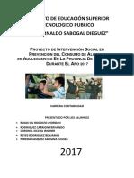 Proyecto de Investigacion Sobre El Consumo de Alcohol en Cajabamba