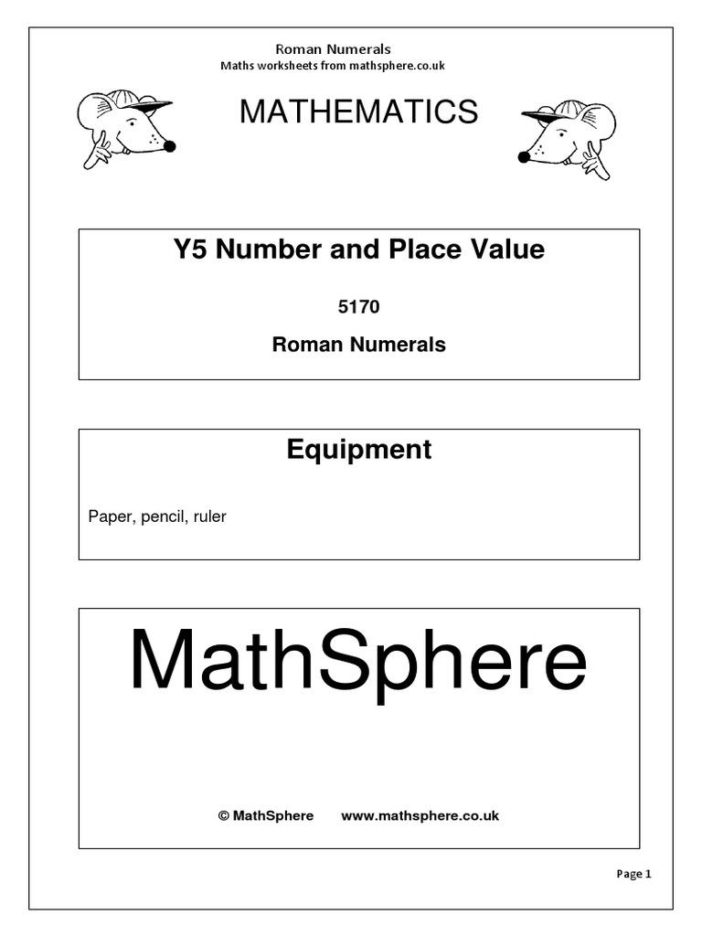 Year 5 2 Roman Numerals | Mathematics | Science