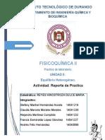 Práctica II Equilibrio Heterogeneo