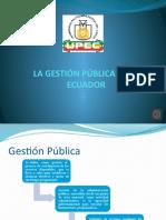 La Gestión Pública en El Ecuador