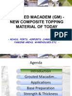Grouted Macadem