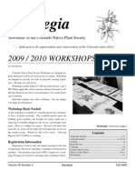 Fall 2009 Aquilegia Newsletter, Colorado Native Plant Society