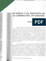 La Biblia y La Teologia de La Liberacion