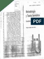 Latella, Graciela (1985) - Metodología y Teoría Semiótica (Cap. 1, 2 y 3)