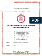 Enfoque Lean Lean Transformation Model Lean Six Sigma