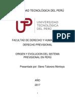 Origen Del Sistema Previsional en Peru