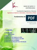 Fundamentos de BDD Distribuidas