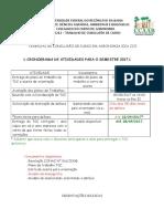 Prazos e Orientações TCC 2017.1