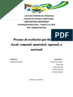 Proceso de Evaluación Geohistorica, Local, Comunal, Municipal, Regional y Nacional. Relacionado con el contexto actual