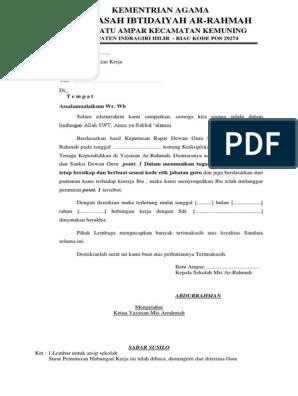 Surat Pemecatan