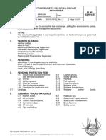 II.2.B 01 Procedimiento Reparación Intercambiador E-1423 x Haz de Tubos ENGLISH. Rev 1