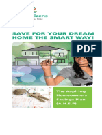 First Aspiring Homeowners Savings Plan Brochure