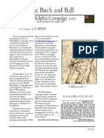 """""""The Buck and Ball"""" (Newsletter of the Augusta County Militia) Philadelphia Campaign, 2010."""