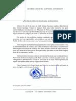 Carta a Los Fieles Católicos de La Iglesia de Concepción
