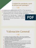7. Principios Del Cuidado Pre-operatorio y Post-operatorio Del Paciente
