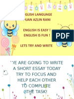 Essay 1 - Classroom